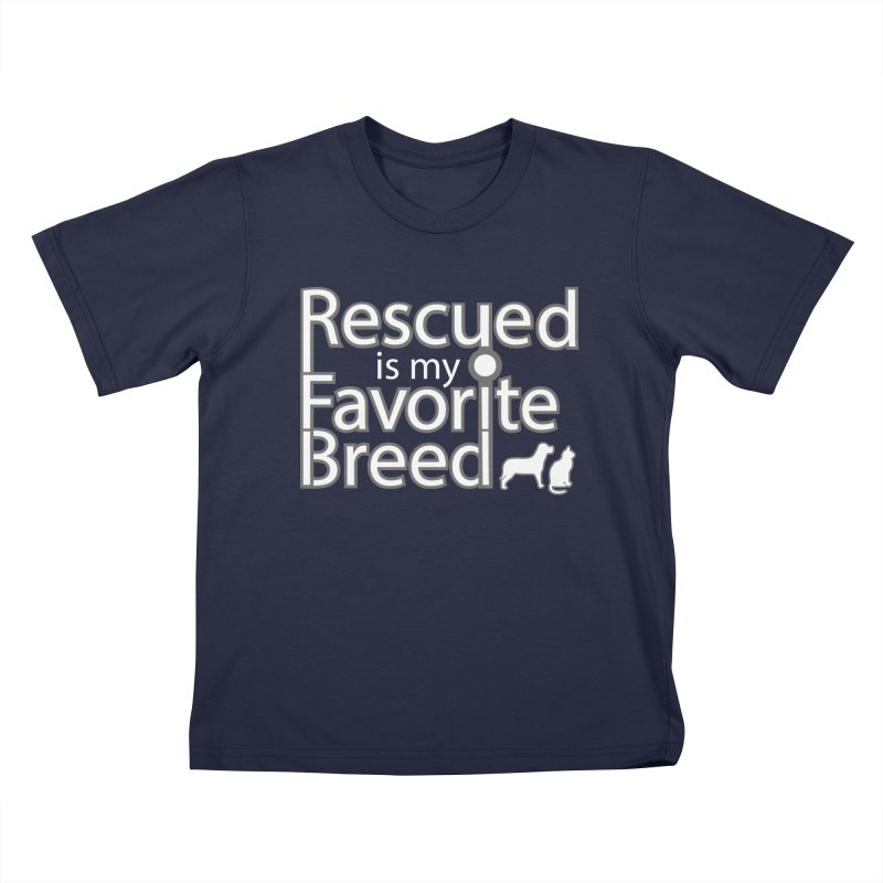 Rescued is my favorite breed light Mod Kids T-Shirt by Andy's Paw Prints Shop