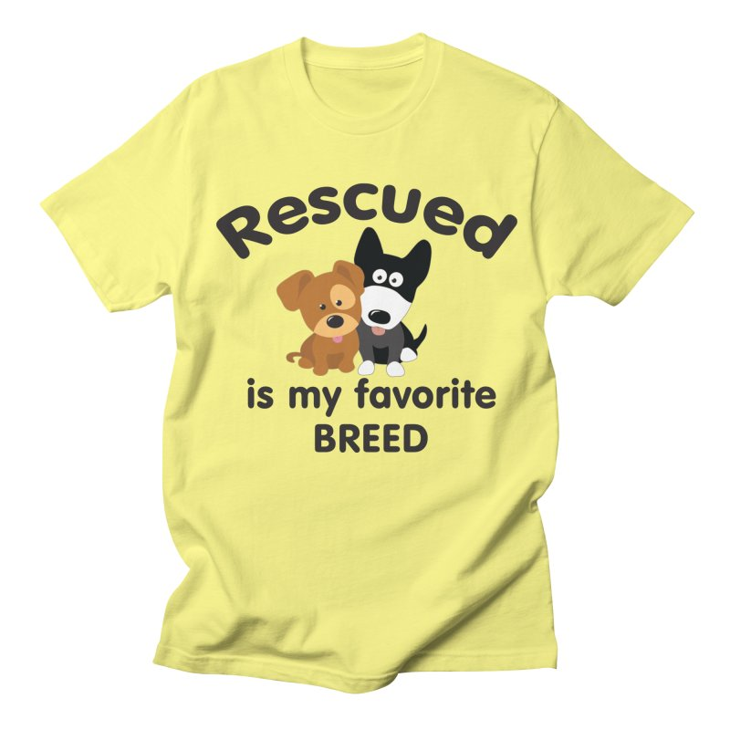 Rescued is my favorite breed Illustration 1 Men's T-Shirt by Andy's Paw Prints Shop