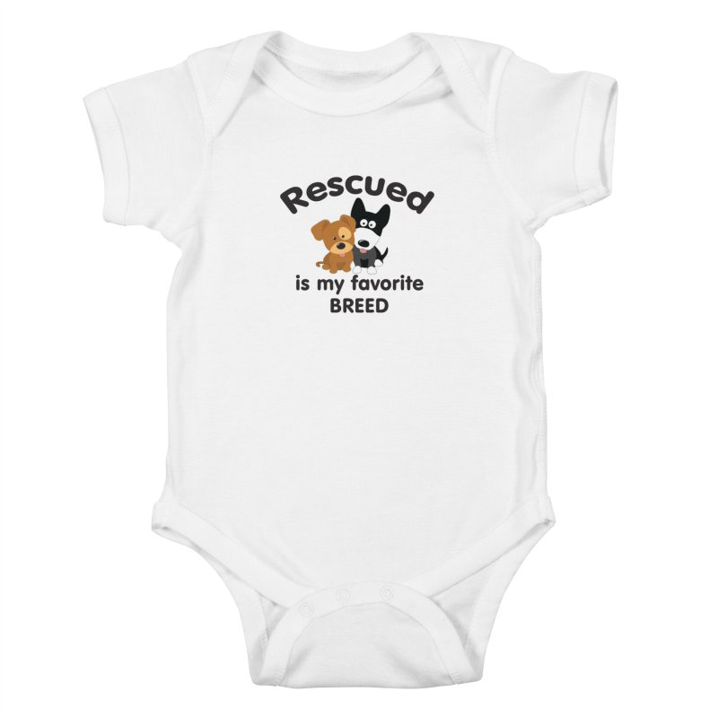Rescued is my favorite breed Illustration 1 Kids Baby Bodysuit by Andy's Paw Prints Shop