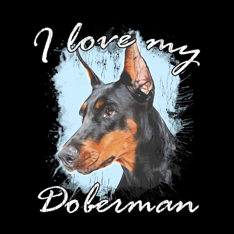 I love my Doberman Accessories Beach Towel by Andy's Paw Prints Shop