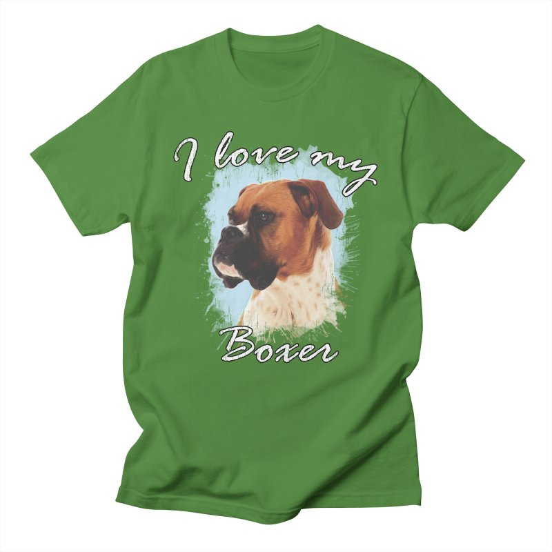 I love my Boxer Men's Regular T-Shirt by Andy's Paw Prints Shop