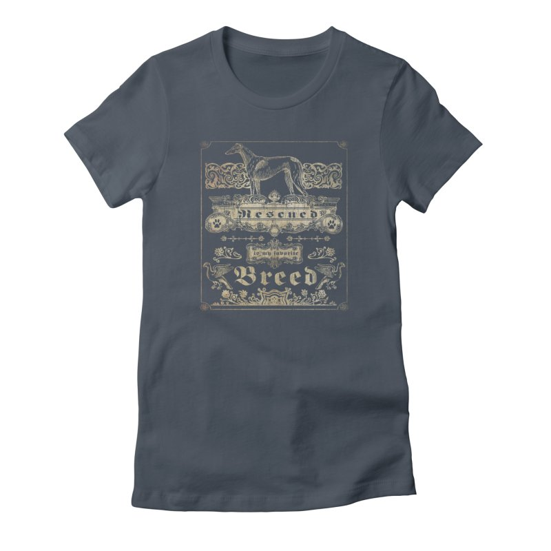 Rescued is my favorite breed Vintage Women's T-Shirt by Andy's Paw Prints Shop
