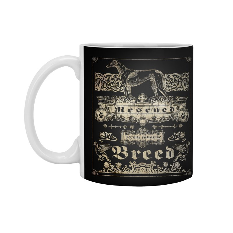 Rescued is my favorite breed Vintage Accessories Mug by Andy's Paw Prints Shop