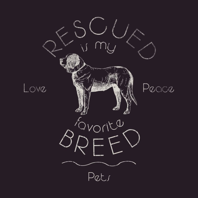 Rescue is my favorite breed Vintage 2 by Andy's Paw Prints Shop