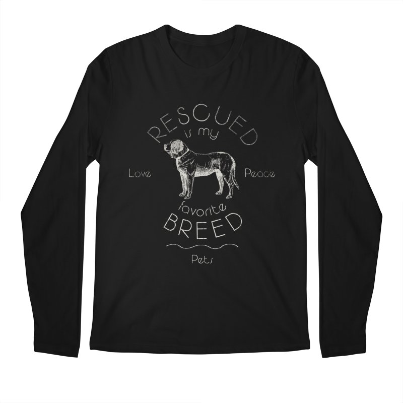 Rescue is my favorite breed Vintage 2 Men's Regular Longsleeve T-Shirt by Andy's Paw Prints Shop