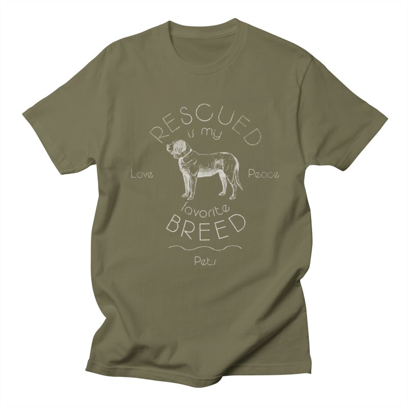 Rescue is my favorite breed Vintage 2 Men's Regular T-Shirt by Andy's Paw Prints Shop