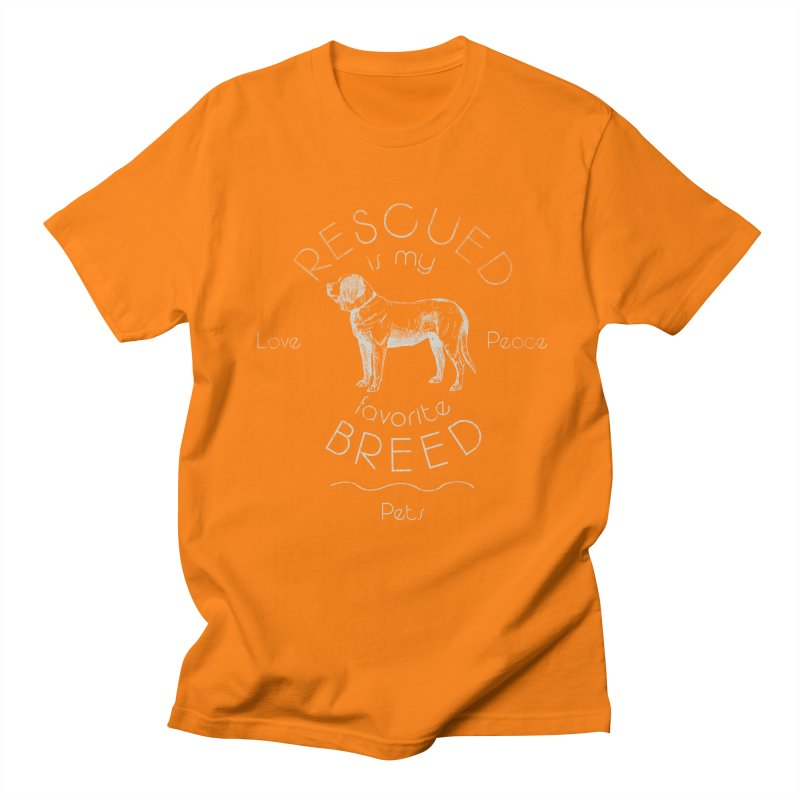 Rescue is my favorite breed Vintage 2 Women's Regular Unisex T-Shirt by Andy's Paw Prints Shop