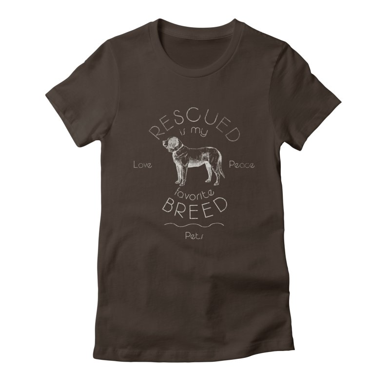 Rescue is my favorite breed Vintage 2 Women's Fitted T-Shirt by Andy's Paw Prints Shop