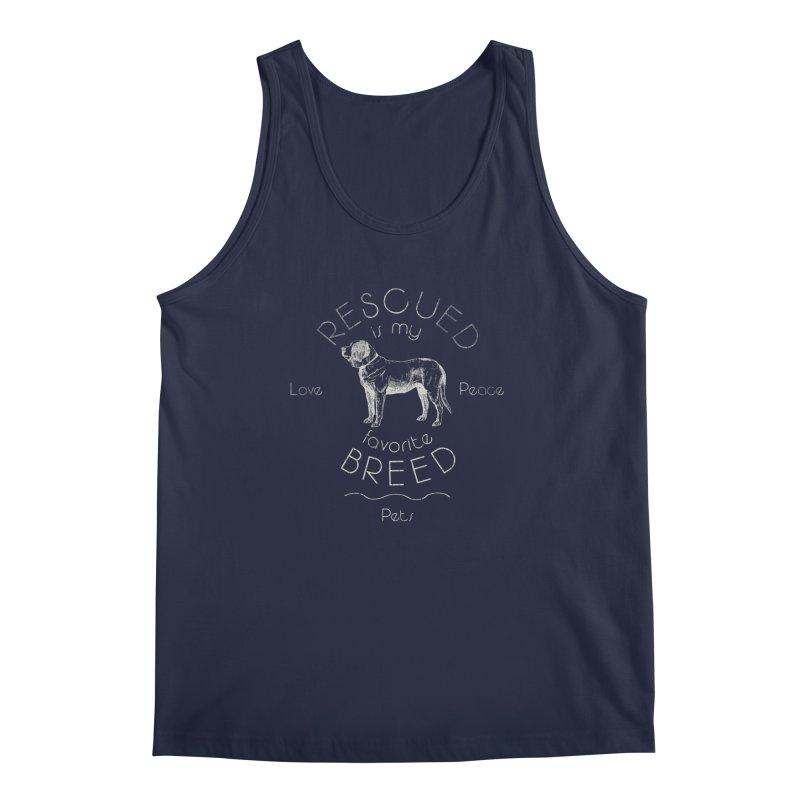 Rescue is my favorite breed Vintage 2 Men's Regular Tank by Andy's Paw Prints Shop