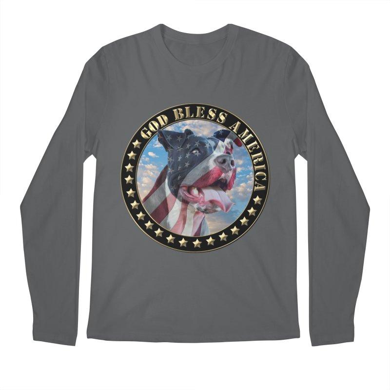 God Bless America 2 Men's Regular Longsleeve T-Shirt by Andy's Paw Prints Shop