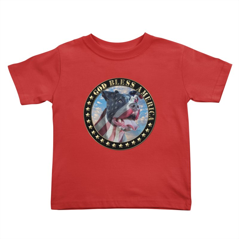 God Bless America 2 Kids Toddler T-Shirt by Andy's Paw Prints Shop