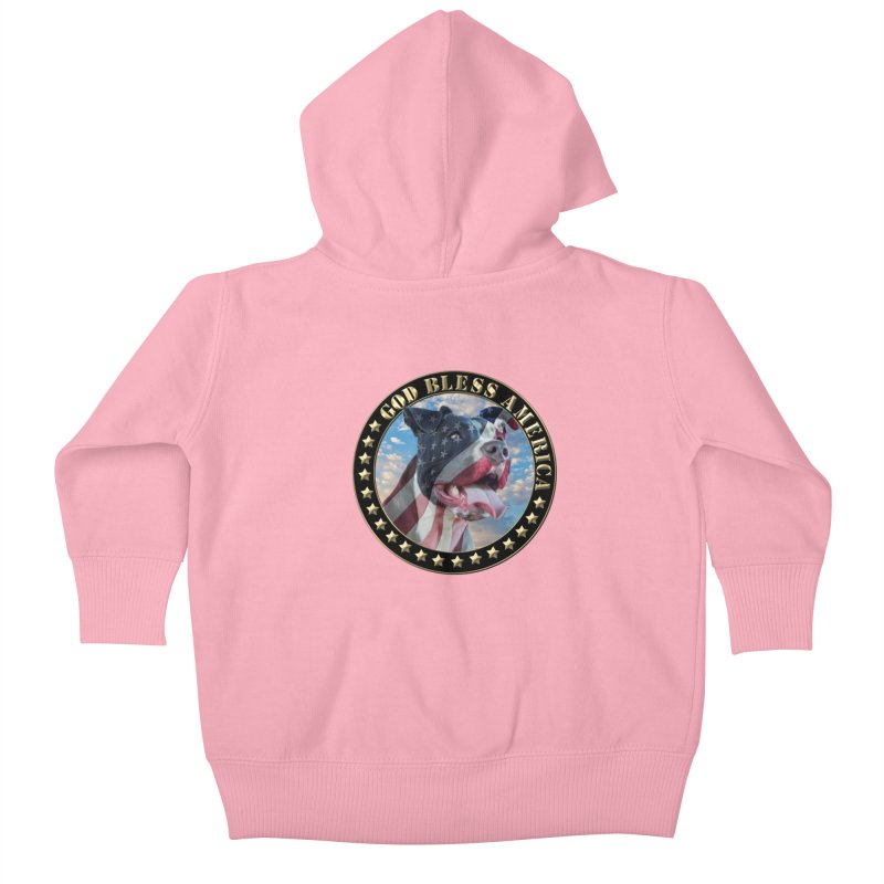 God Bless America 2 Kids Baby Zip-Up Hoody by Andy's Paw Prints Shop