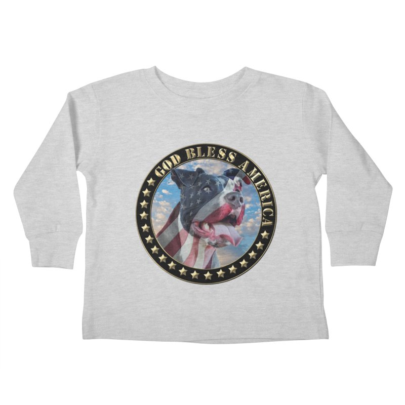 God Bless America 2 Kids Toddler Longsleeve T-Shirt by Andy's Paw Prints Shop