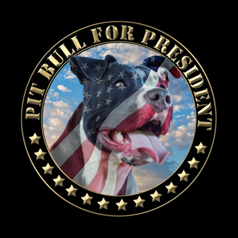 Pit Bull for president Kids Baby T-Shirt by Andy's Paw Prints Shop