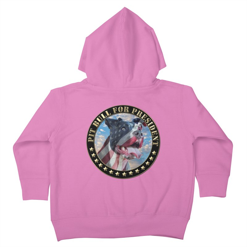 Pit Bull for president Kids Toddler Zip-Up Hoody by Andy's Paw Prints Shop