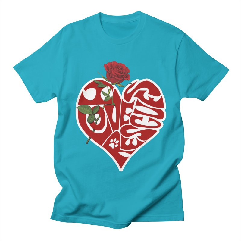 I love rescues heart Men's Regular T-Shirt by Andy's Paw Prints Shop