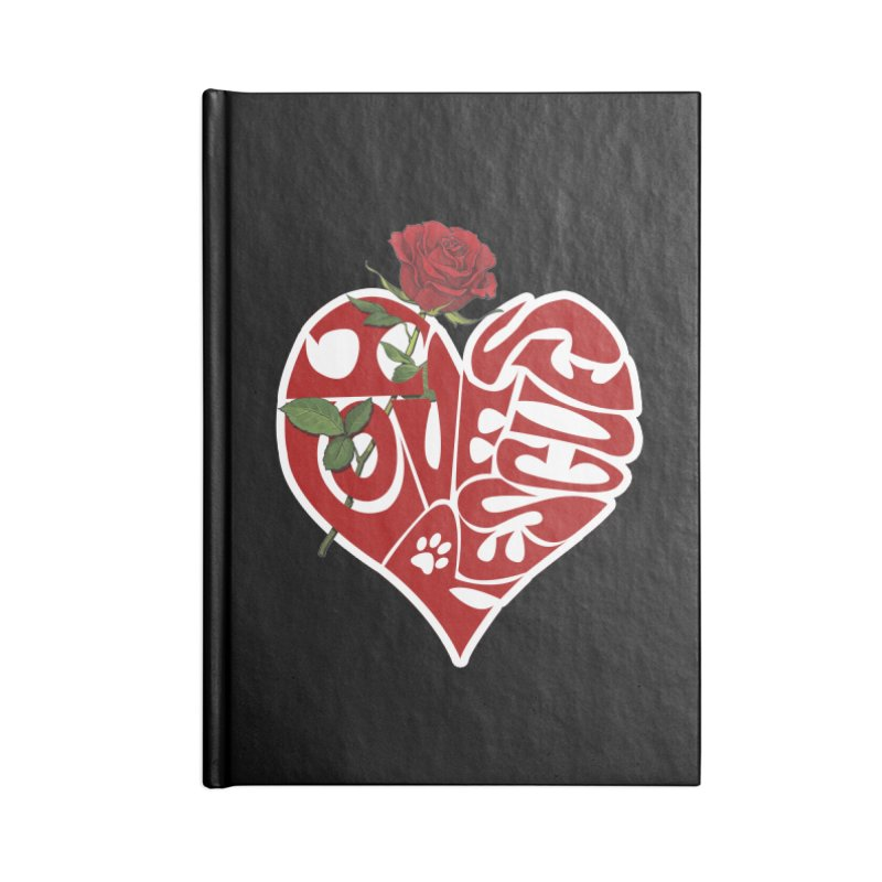I love rescues heart Accessories Blank Journal Notebook by Andy's Paw Prints Shop