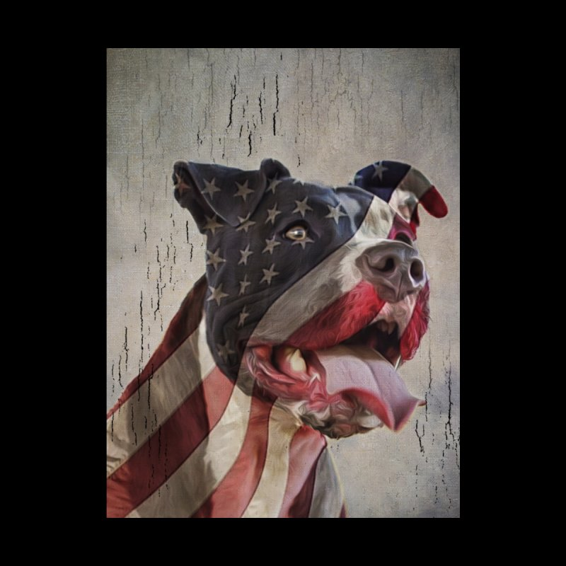 American Flag Dog by Andy's Paw Prints Shop