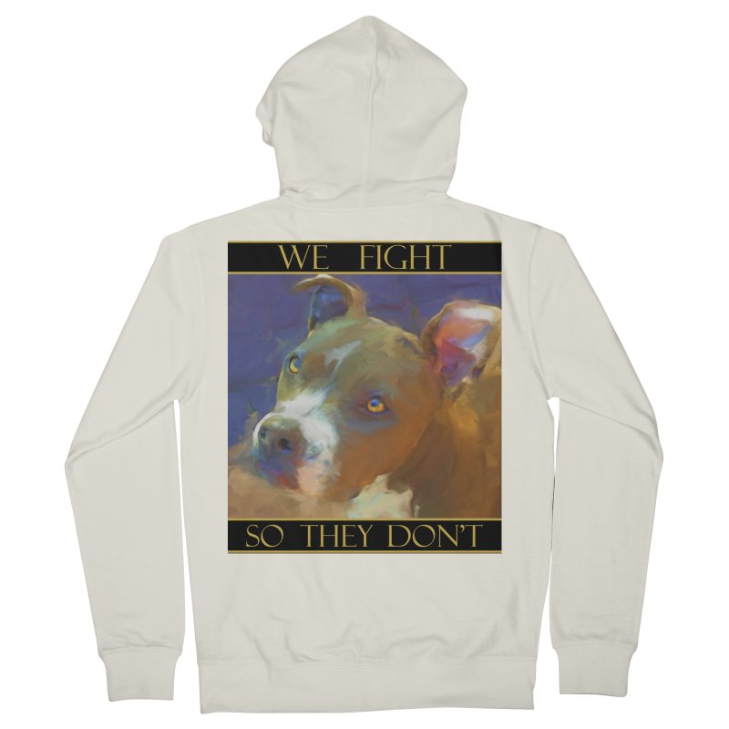 We fight, so they don't 2 Men's French Terry Zip-Up Hoody by Andy's Paw Prints Shop