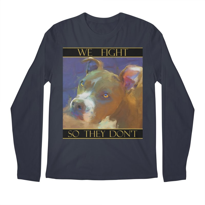 We fight, so they don't 2 Men's Regular Longsleeve T-Shirt by Andy's Paw Prints Shop