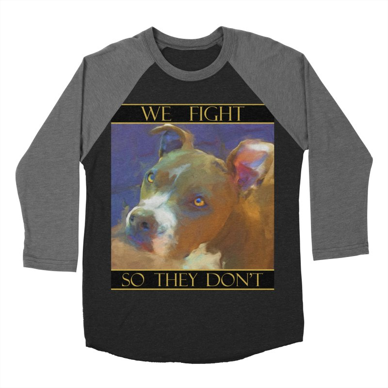 We fight, so they don't 2 Men's Baseball Triblend Longsleeve T-Shirt by Andy's Paw Prints Shop