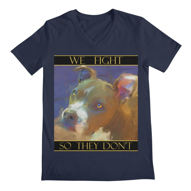 We fight, so they don't 2 Men's Regular V-Neck by Andy's Paw Prints Shop