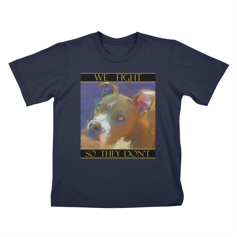 We fight, so they don't 2 Kids T-Shirt by Andy's Paw Prints Shop