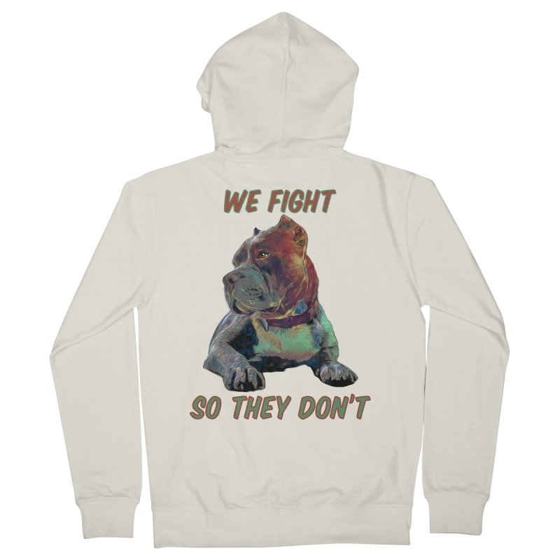 We fight, so they don't 3 Men's French Terry Zip-Up Hoody by Andy's Paw Prints Shop