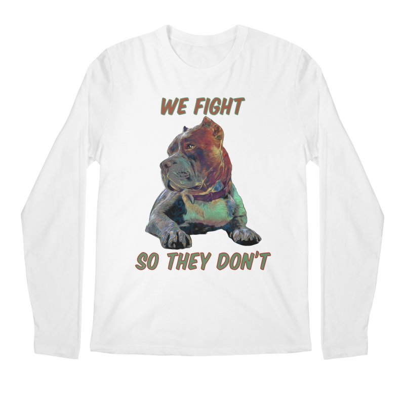 We fight, so they don't 3 Men's Regular Longsleeve T-Shirt by Andy's Paw Prints Shop