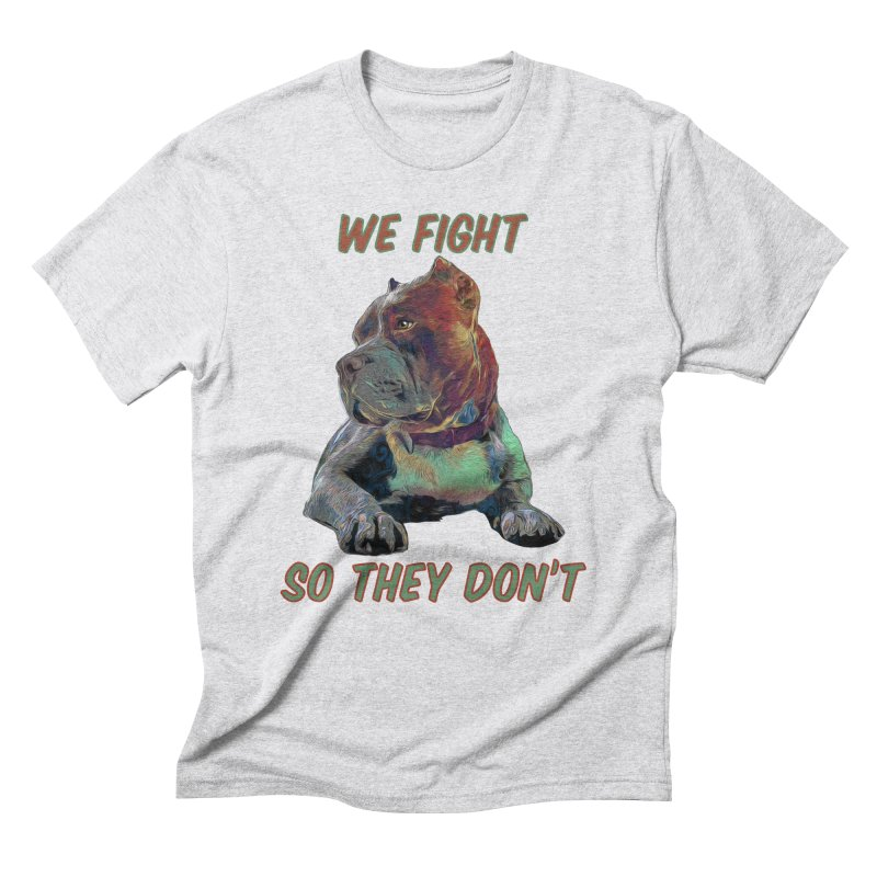 We fight, so they don't 3 Men's Triblend T-Shirt by Andy's Paw Prints Shop