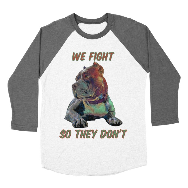 We fight, so they don't 3 Men's Baseball Triblend Longsleeve T-Shirt by Andy's Paw Prints Shop