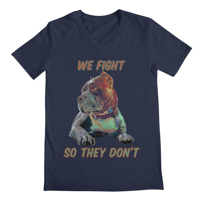 We fight, so they don't 3 Men's V-Neck by Andy's Paw Prints Shop