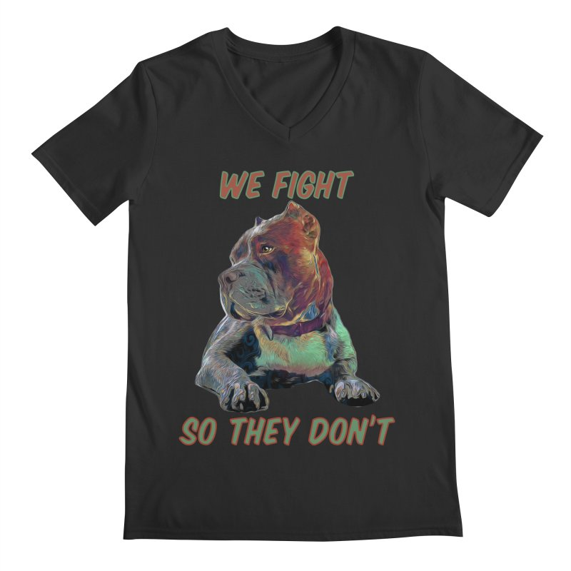 We fight, so they don't 3 Men's Regular V-Neck by Andy's Paw Prints Shop