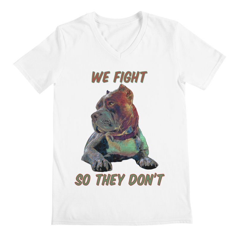 We fight, so they don't 3 Men's V-Neck by Andy's Paw Prints Shop