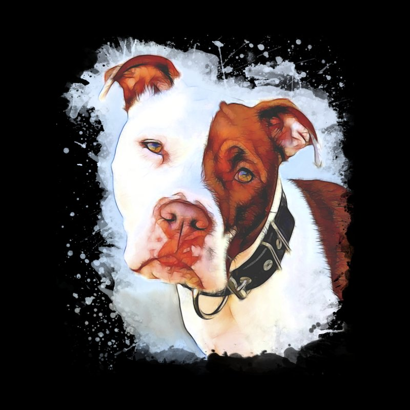 Pit Bull Home Throw Pillow by Andy's Paw Prints Shop