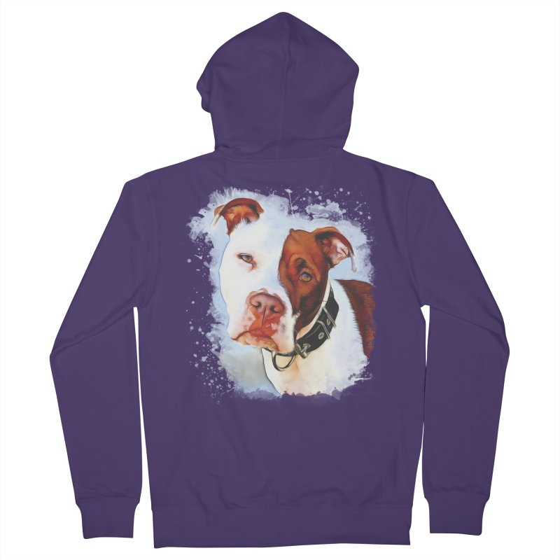 Pit Bull Women's Zip-Up Hoody by Andy's Paw Prints Shop