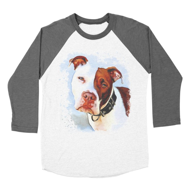 Pit Bull Women's Longsleeve T-Shirt by Andy's Paw Prints Shop
