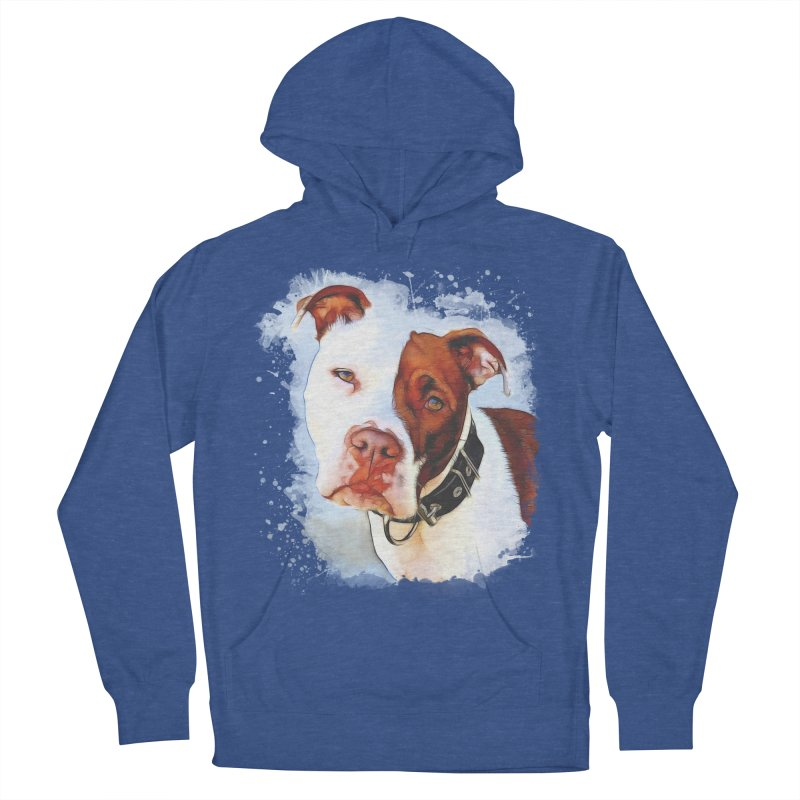 Pit Bull Women's French Terry Pullover Hoody by Andy's Paw Prints Shop