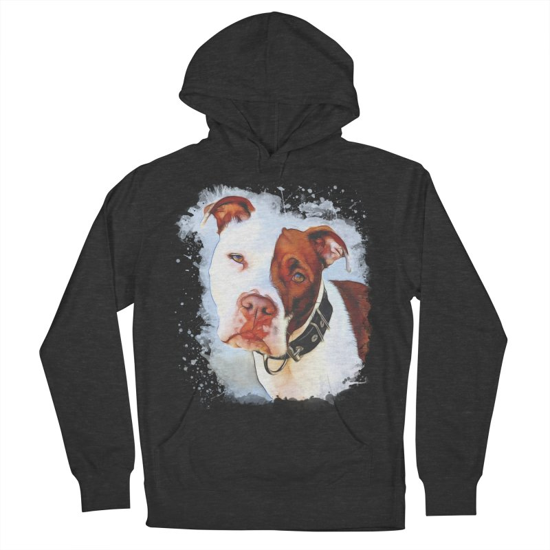 Pit Bull Men's French Terry Pullover Hoody by Andy's Paw Prints Shop
