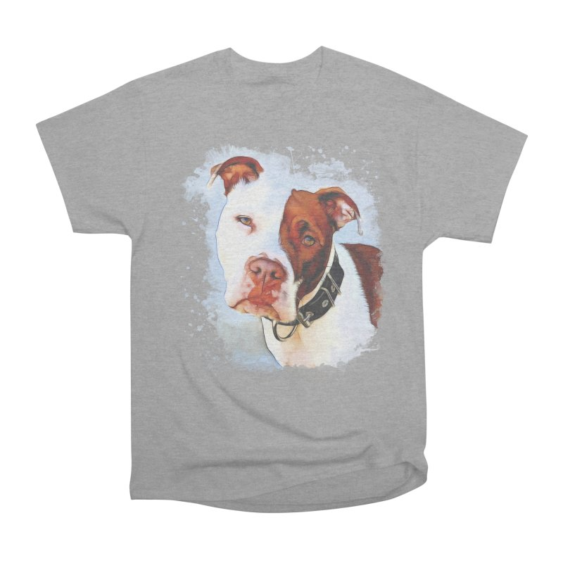 Pit Bull Men's Heavyweight T-Shirt by Andy's Paw Prints Shop