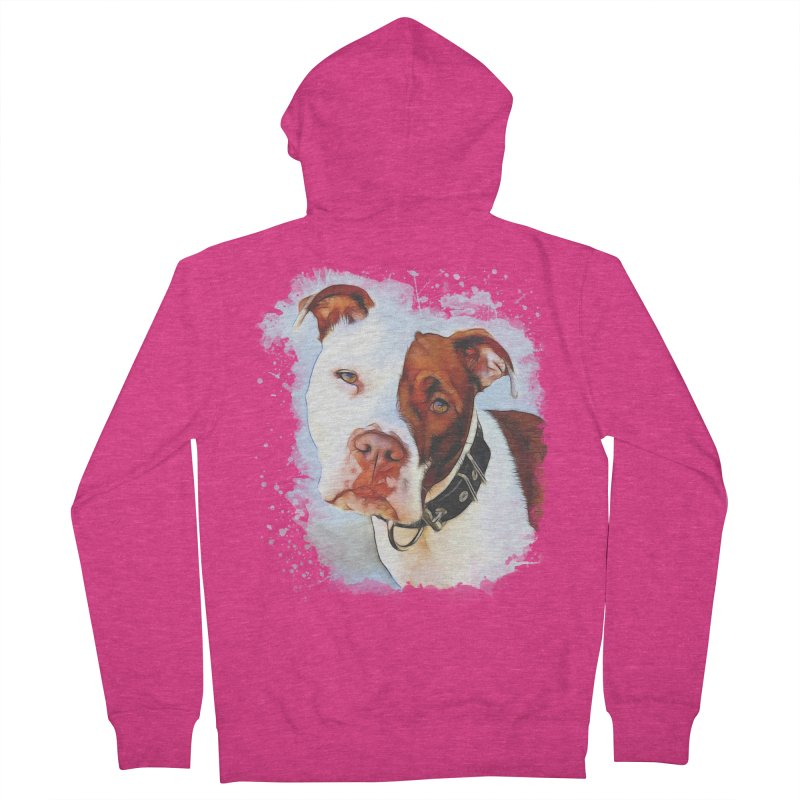 Pit Bull Women's French Terry Zip-Up Hoody by Andy's Paw Prints Shop