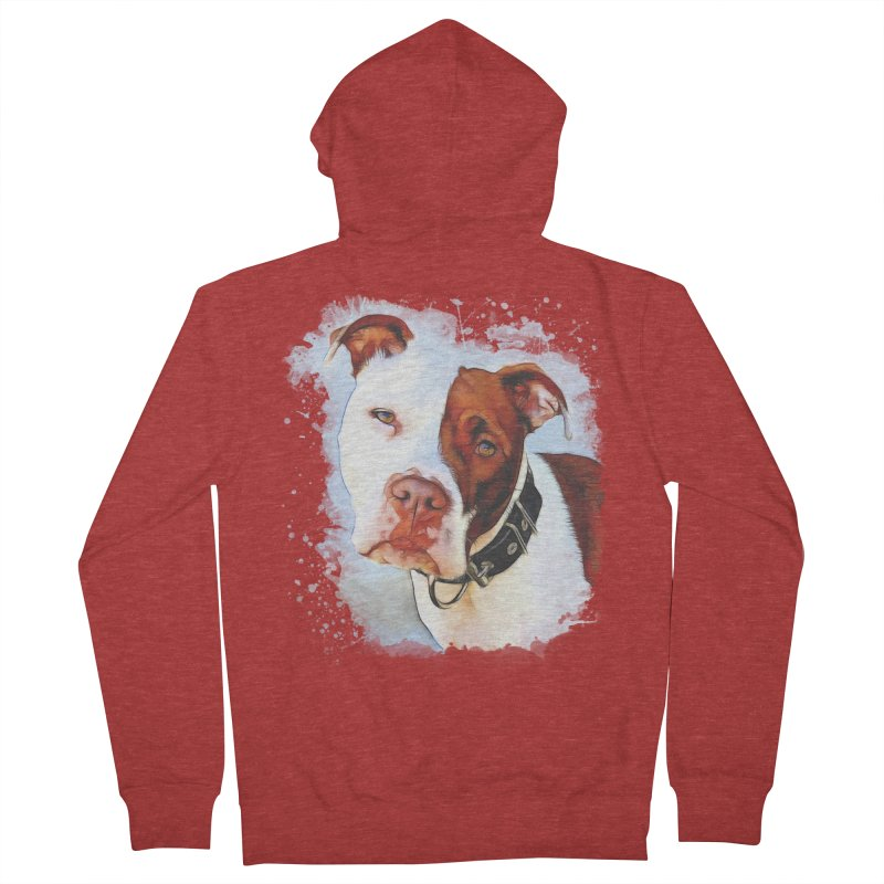 Pit Bull Men's French Terry Zip-Up Hoody by Andy's Paw Prints Shop