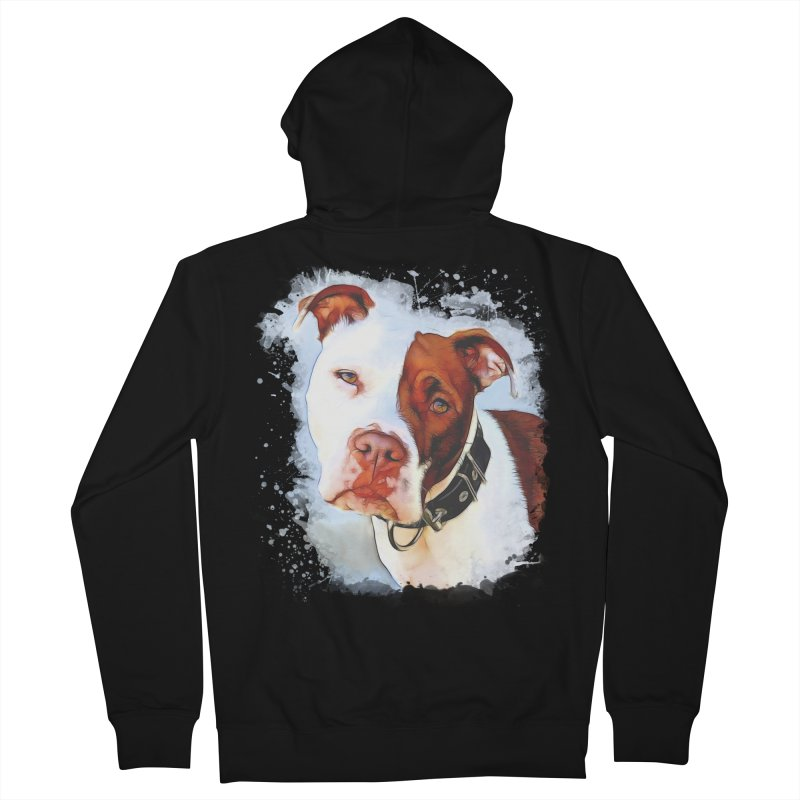 Pit Bull Men's Zip-Up Hoody by Andy's Paw Prints Shop