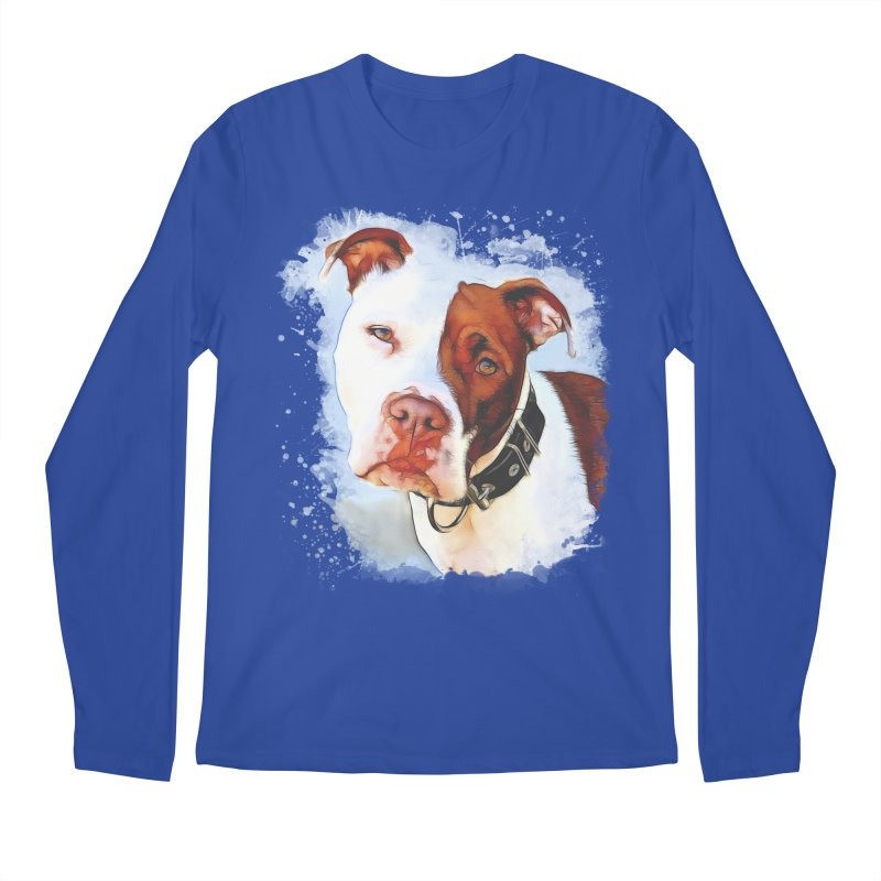 Pit Bull Men's Regular Longsleeve T-Shirt by Andy's Paw Prints Shop