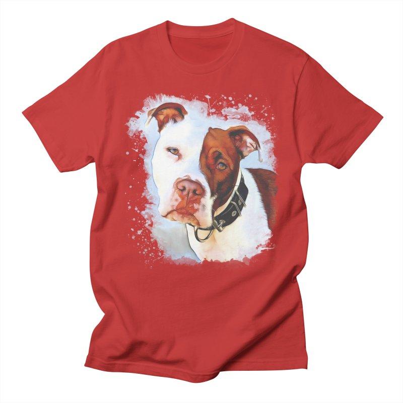 Pit Bull Men's T-Shirt by Andy's Paw Prints Shop