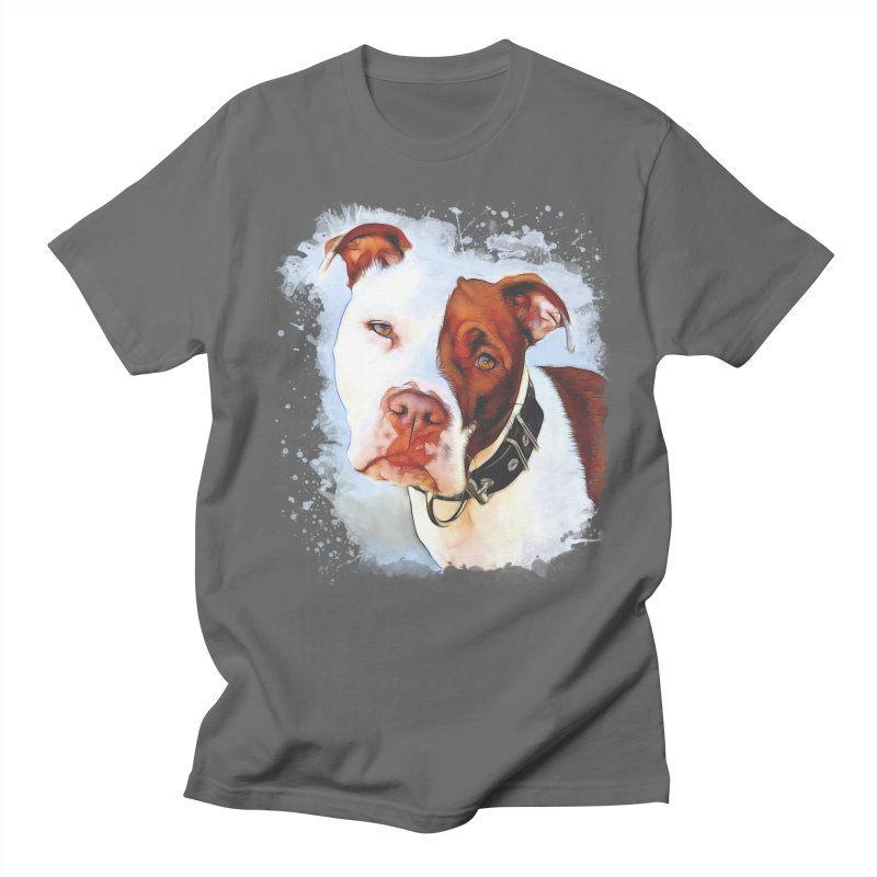 Pit Bull Men's T-Shirt by Andy's Paw Prints Shop