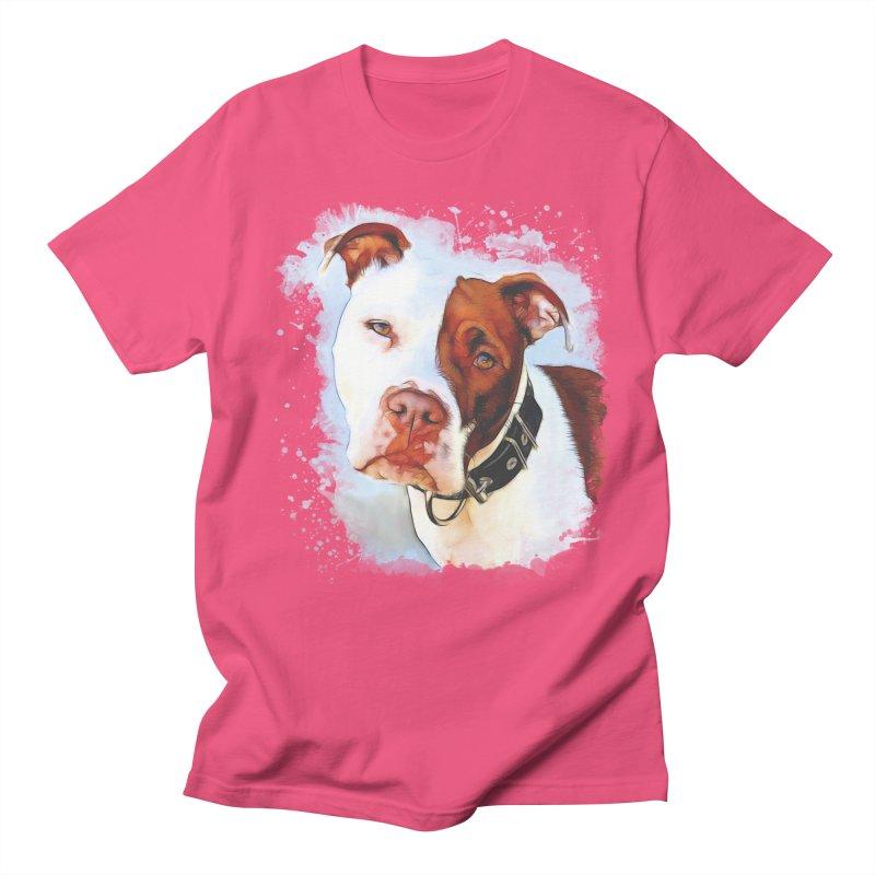 Pit Bull Women's Regular Unisex T-Shirt by Andy's Paw Prints Shop