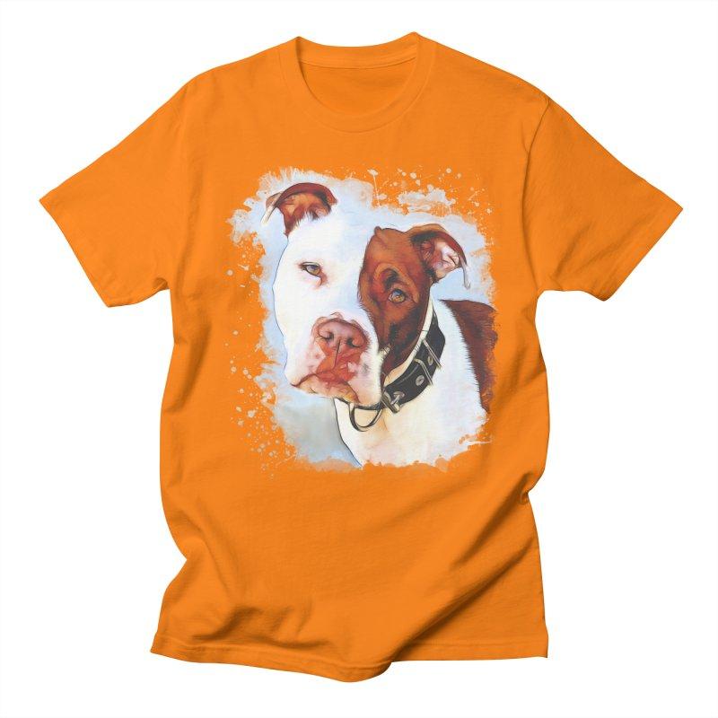 Pit Bull Men's Regular T-Shirt by Andy's Paw Prints Shop