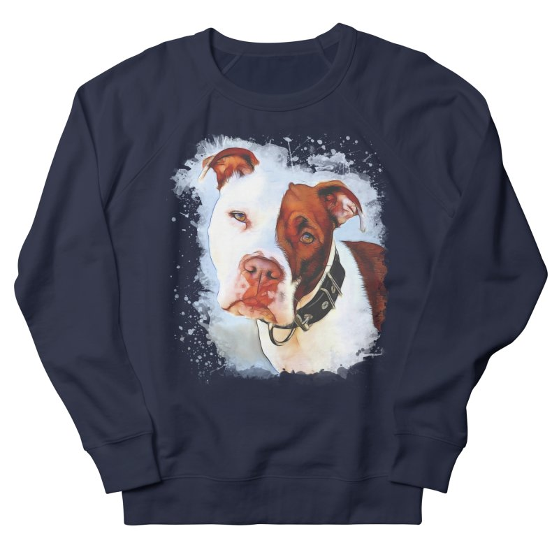 Pit Bull Women's French Terry Sweatshirt by Andy's Paw Prints Shop