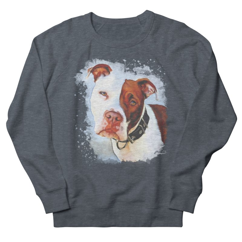 Pit Bull Men's French Terry Sweatshirt by Andy's Paw Prints Shop
